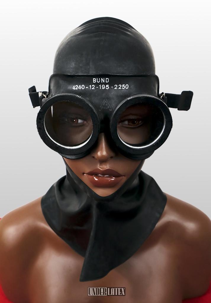 Gummi Gasschutzbrille Auer schwarz