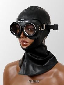 Auer Gasschutzbrille Gummi schwarz