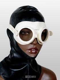 Auer Gasschutzbrille cremeweiß