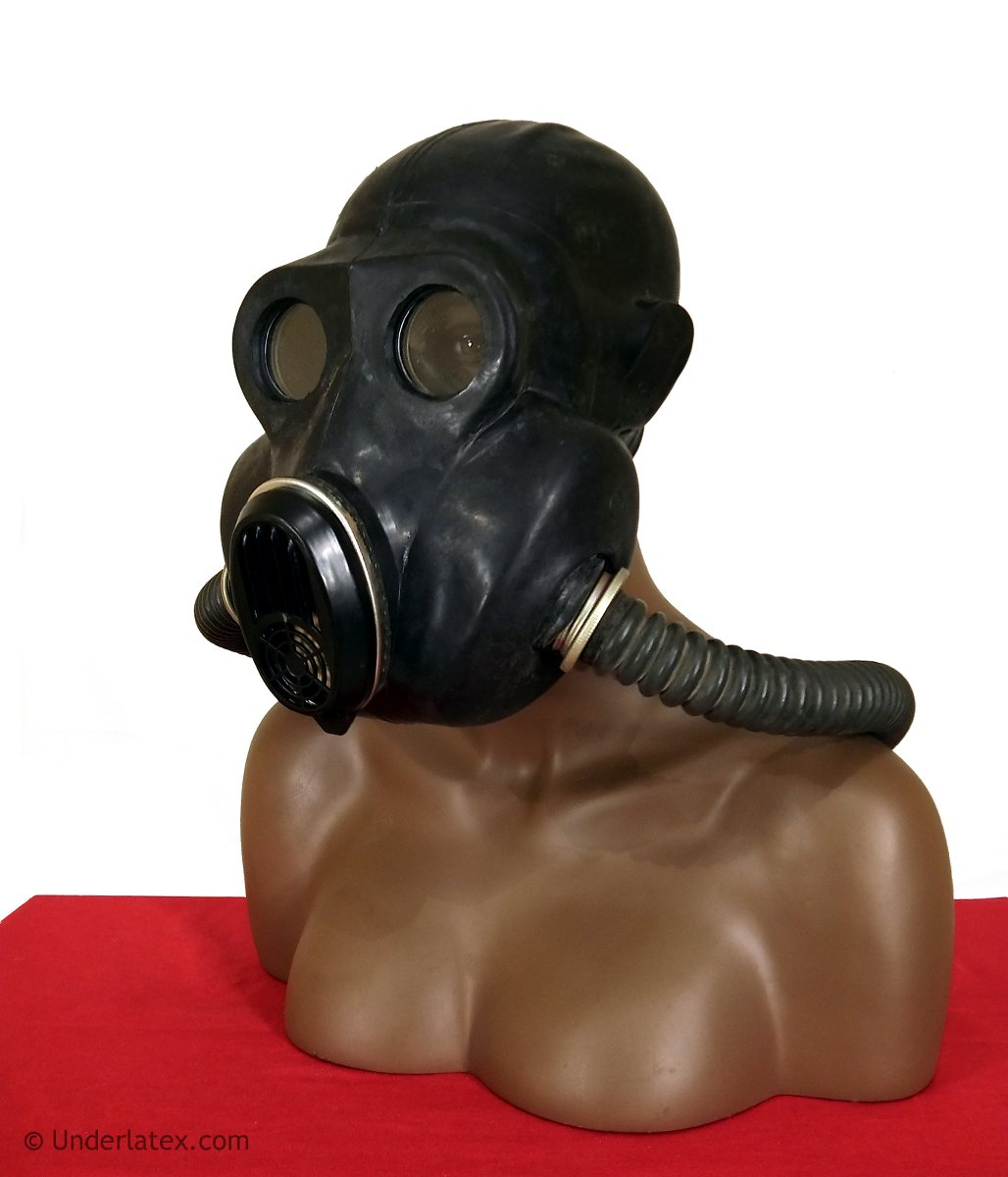 russische Gasmaske PBF EO-19 schwarz aus Gummi