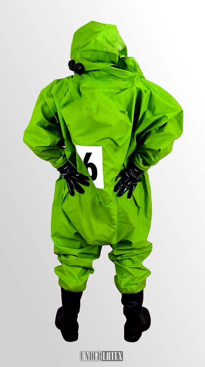 Auer CSA Schutzanzug Vautex SL grün von hinten