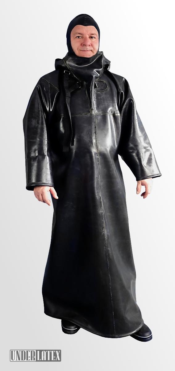 Mit Kapuze Aus 2mm GummiLang Rubber 1 Fester Heavy Raincoat IYED29WH