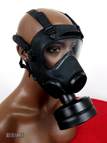 Polnische Gasmaske MP-5 schwarz