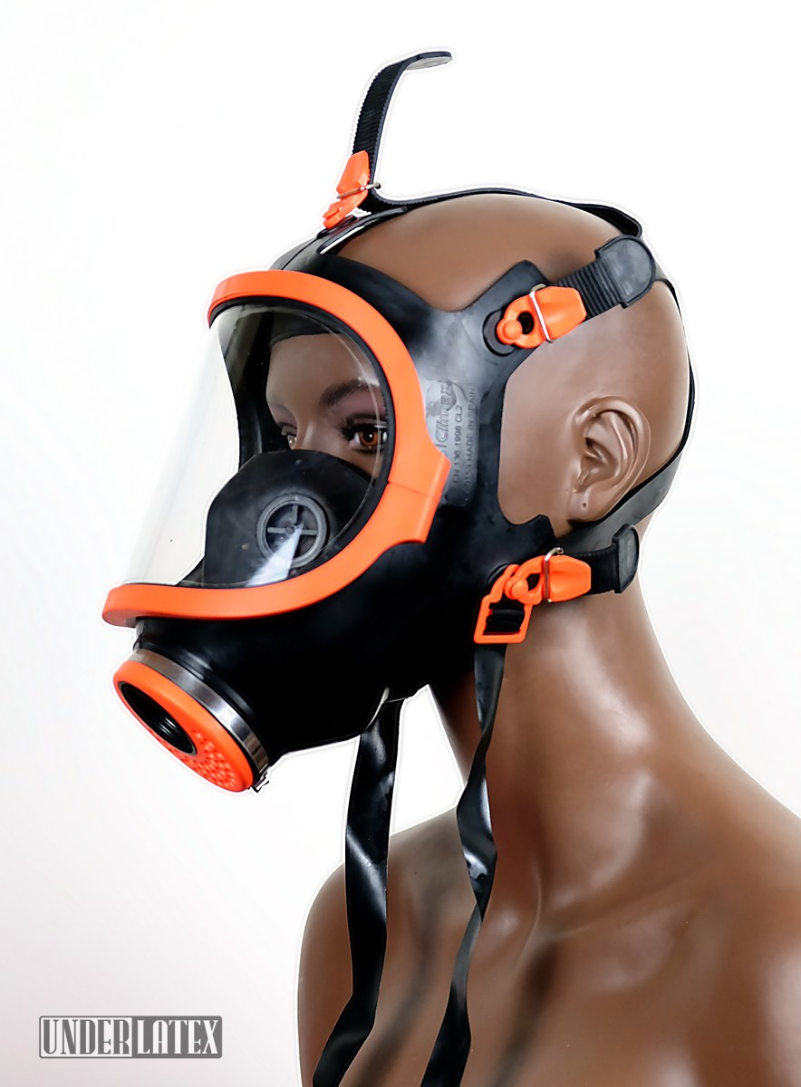 spanische Gasmaske Climax_S.A. 731 Silikon orange Panoramafenster