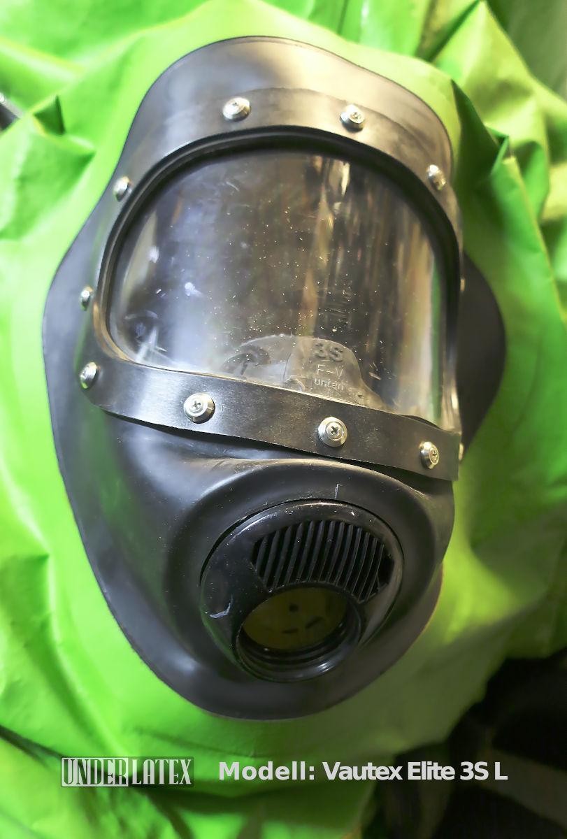 MSA Auer CSA Chemikalienschutzanzug CSF Schutzanzug Vautex mit integrierter Maske 3S RD40
