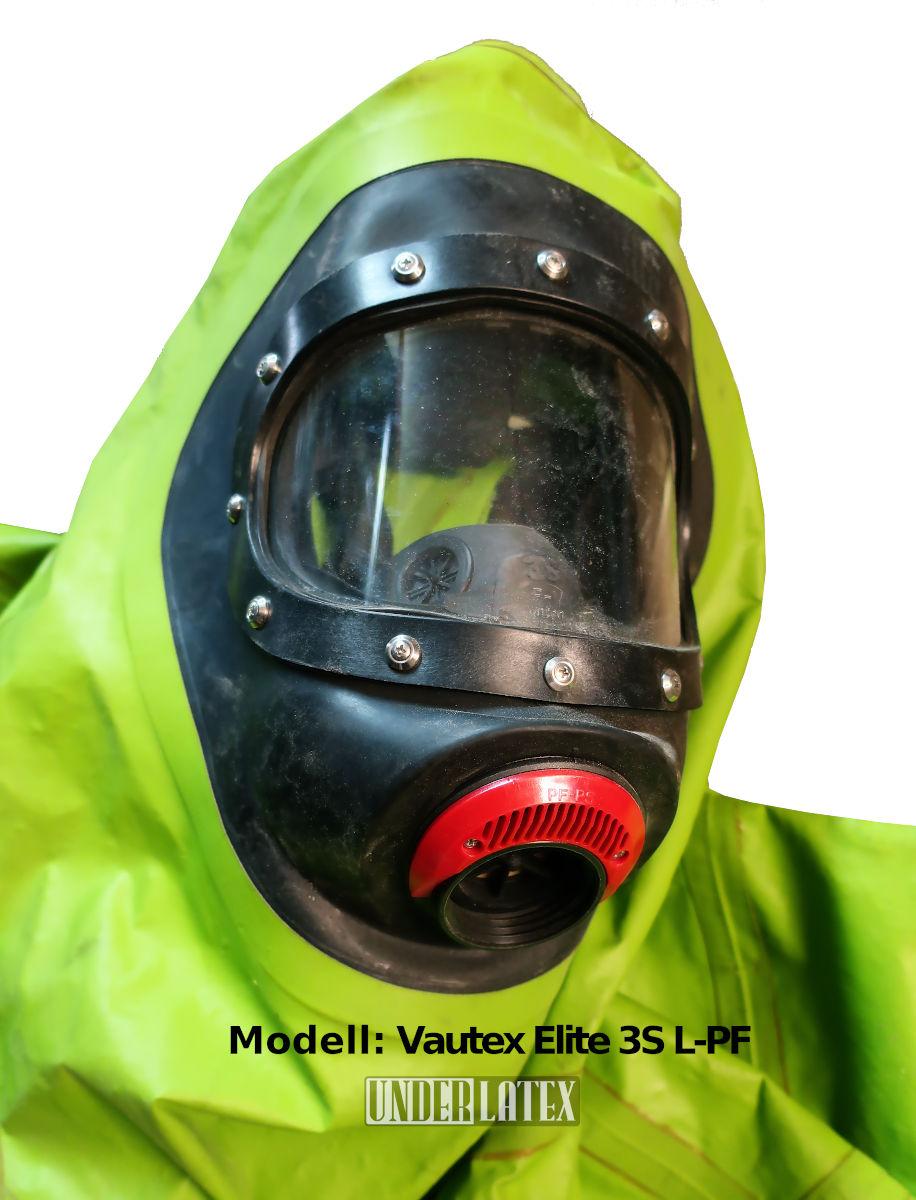 MSA Auer CSA Chemikalienschutzanzug CSF Schutzanzug Vautex l-PF mit Maske 3S Überdruck M45x3 integriert