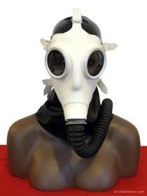 deutsche Gasmaske Z56 weiß creme