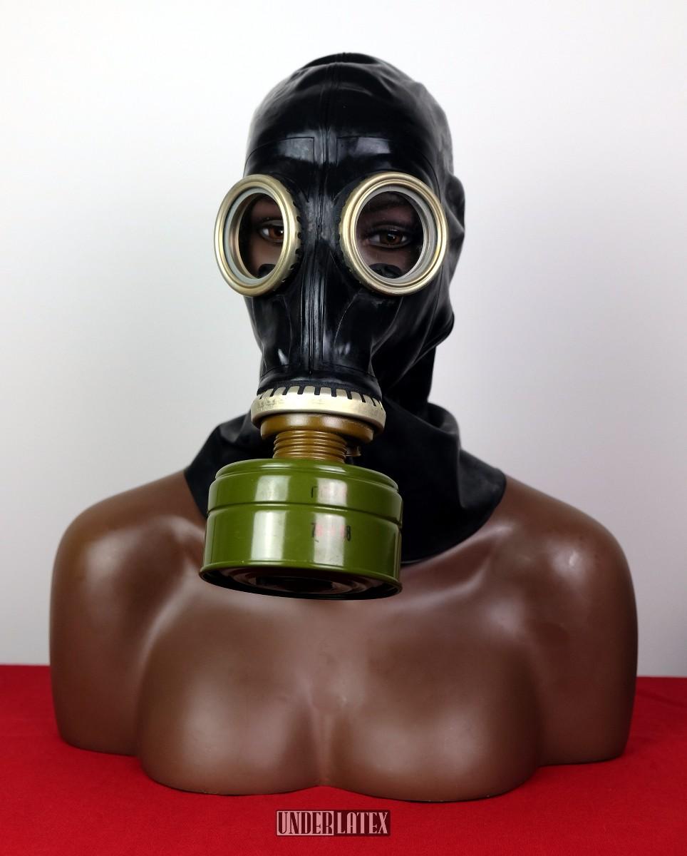 russische schwarze Latex Gasmaske GP-5 Ganzkopf
