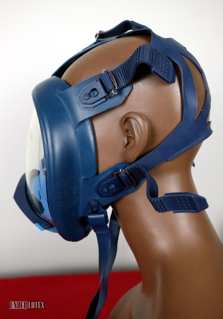 Dräger Futura Gasmaske blau mit RD40 Anschluss