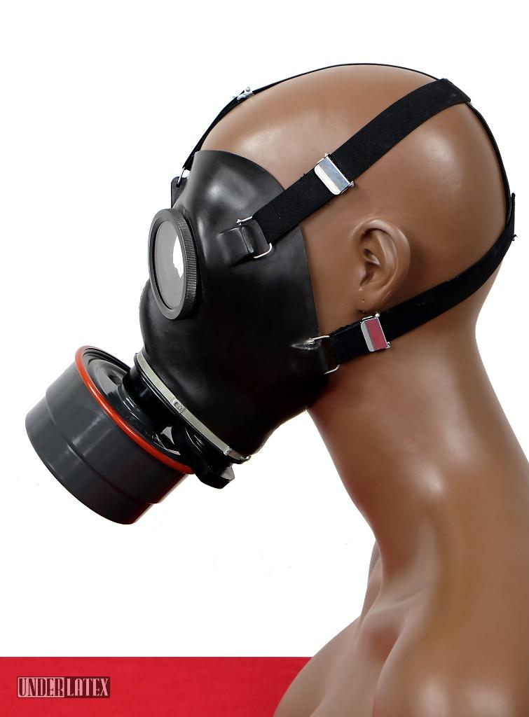 Schweizer Gasmaske SM 67 Zivilschutz schwarz