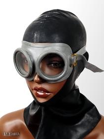 graue Gasschutzbrille NATO Gummi